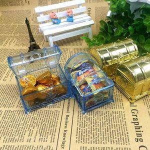 Cofre del tesoro en forma de caja del favor del regalo de boda de caramelo Cofre del tesoro cajas de chocolate Birthday Baby Shower Favors DWD3038