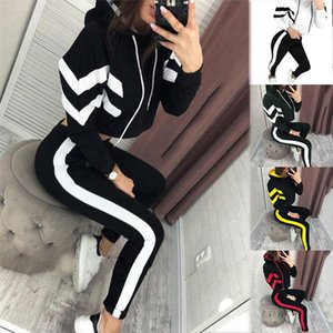 2 Piece Set Women Ropa Deportiva Mujer Patchwork Hoodie Sweatshirt and Pants Jogging Suit Tracksuit Women Casual Clothes Outfits
