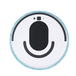 USB Smart Sweeping Robot Wash Lave Wiping Machine Máquina Mojada Dry Cleaner Rotating Walking Smart Swreeper, Blanco