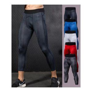 Men Compression Pant Legging 3D Print Mens Gym Leggings