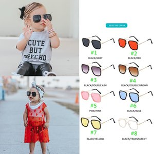 Wholesale New Stylish INS Kids Baby Sunglasses girls boys Kids Outwear Sun Glasses Candy Color Beach Sunglasses Children Shades For Children