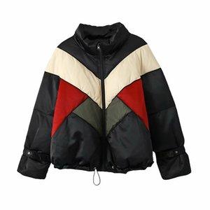 in Europe and the wind of new fund of 2020 autumn winters is recreational the joker color matching easing down jacket Z1211