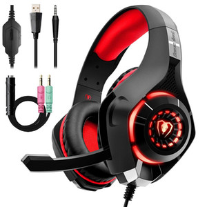 New Beexcellent GM-1 Gaming Headphone 3.5MM USB Wired Headband Headphones with Mic LED Light Stereo Game Headset for PC PS4 Gamers