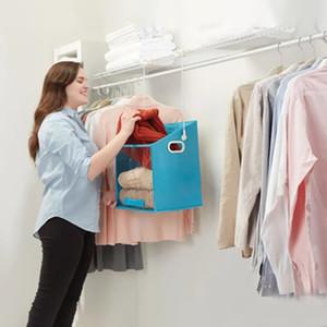 Giysi saklama kutusu dolap organizatör caddy dönebilen depolama dolabı kutusu
