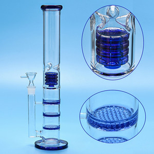 2021 New Oil Rigs Glass Bongs Large Water Pipe Free shipping Vase Perc Percolator Smoking Piper 18mm Joint Thick Arms 40CM Height FY2420