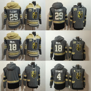 Personalizzato Vegas Golden Knights Marc-Andre Fleury Jersey Hoodie Pullover James Neal Clayton Stoner Felpe in inverno cucito