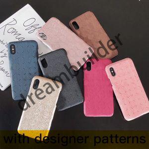 Tasarımcı telefon kılıfları iphone 12 pro max 11 11pro 11promax 7 8 artı XR XS XSMAX kapak PU deri Samsung Shell S8P S9 S9P S10 S10P Ultra Not 10 P 10 9 8