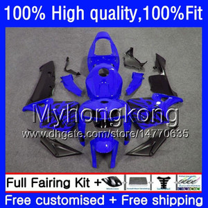 Blue black 100% Fit For HONDA CBR600F5 CBR600 RR CBR600RR 05 48HM.222 CBR 600RR CBR 600 CC RR 600CC F5 05 06 2005 2006 Injection Fairings
