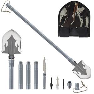 18 in 1 faltende Camping Survival Shovel Multifunktional MultiTool Compact Backpacking Taktisches Verankerungswerkzeug für Jagdwanderfischen