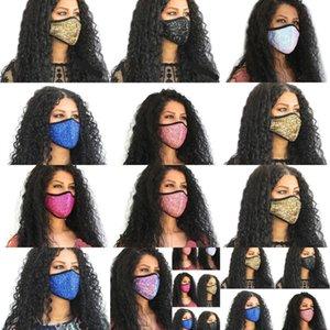 Masken benutzerdefinierte Gesichtspailletten Flash Mascarilla Mund Olneroop Atemnot faltbar Mascherine Mode Wiederverwendbare Anti-Staubkind