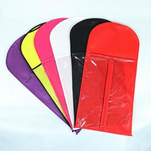 Saco de armazenamento de peruca não-tecido 29 * 60 cm preto branco cabelo vermelho beleza peruca durable durable saco de poeira portátil terno pequeno caso capa capa fwa2513