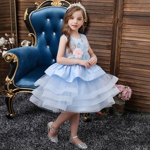 Summer Tutu Dress For Girls Dresses Kids Clothes Wedding Events Flower Girl Dress Birthday Party Costumes Children Clothing 2020 Z1127