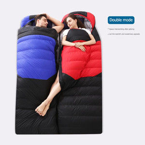 Windproof Sleeping Bag Adults Outdoor Camping Warm Sleeping Pouch Blanket Portable Winter Down Travel Supply Waterproof