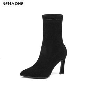 NemaOne Women Boots Boots Soot Boots Все матча платформы заостренный носок квадратный высокий каблук на женщин большой размер 34-43