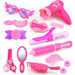 24-32 stücke Pretend Play Kind Make-up Toys Rosa Makeup Set Prinzessin Friseur Simulation Kunststoff Spielzeug Für Mädchen Ankleidekosmetik q1217