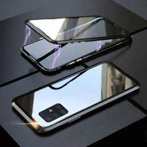 Doublesided Magnetic Tempered Glass 360 Case For Samsung A31 A51 A71 A50 A70 Note20 S20 ultra S10 S9 S8 Metal Cover