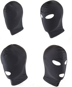 Fetish Sexual Training HeadGear Black Party Gauge erotico Cos Sexy SM Adult Head Mask Valentine Cosplay Costume Accessori