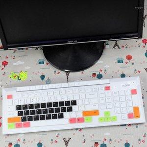 غطاء لوحة مفاتيح الغبار الملونة ل Rapoo X336 N7000 8200P اللاسلكي الشوكولاته سطح المكتب لوحة المفاتيح حامي فيلم واقية