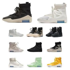 2021 Hommes de haute qualité Hommes Femmes Peur de Dieu Bone Blanc Blanc Blanc Sneakers Fog Coussin Bottes Sports Zoom Zoom Chaussures de sport