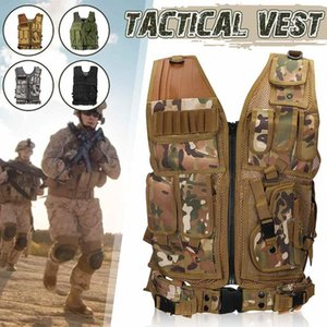 Wholesale Army Green Tactical Combat Vest Outdoor CS Game Paintball Vest Protective Plate Carrier Waistcoat