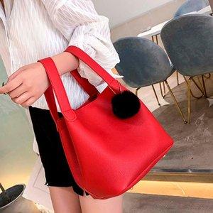 Large Women Solid Travel Shoulder Casual Bag Handbag Bucket ISHOWTIENDA Bag Handbag Messenger Simple Capacity Fashion Leather Doran