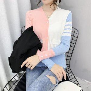 Hayblst Marca Sweater 2021 Cardigan para mujer Moda Ropa de otoño estilo coreano Top Top Manga larga Estirar Ropa
