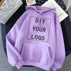 DIY YOUR LOGO hoodie accept customzed print any style unisex hooded student casual sweatshirt Harajuku oversized men Streetwear