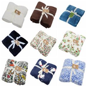 Flanelldecken Verdickung Feste Farbe Abdeckung Decke NAP Klimaanlage Decke Cartoon Fleece Decken Winter Warme Heimtextilien Yelu1