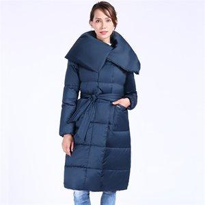 Новые зимние женские пальто плюс размер моды с капюшоном теплые женщины вниз куртка Высококачественные биологические-вниз женские Parkas Docero 201214