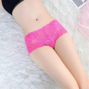 Sexy Lace Floral Women Underwear Briefs String Lingerie Thong Seamless Panties