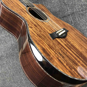 Пользовательские PS 14AA ALL COLD COAL CARALONE ABALONE Полный связывающий сплошной стороной сплошной сплошной со стороны с BB Band Electronic Pickup акустическая электрическая гитара