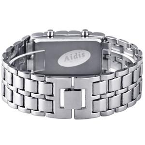 Aidis youth sports watches waterproof electronic second generation binary LED digital men's watch alloy wrist strap watch 201125
