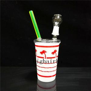 New Arrival Starbucks Dabuccino Dab Rig Coconut Cup Box Glass Beaker Bongs Hookahs Shisha Glass Water Pipes Heady Glass Dab Rigs Tall Bongs
