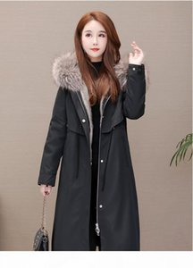 Hot sale Women Winter Jacket Ladies Real Raccoon Fur Collar Duck Down Inside Warm Coat Femme With All The Tag Short Coat