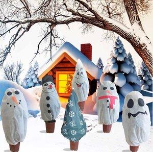 Decorações de Natal Não-tecida Árvore de Natal Capa protetora Planta Frio e Inseto-à prova de árvore Capa dos desenhos animados Boneco de neve Padrão HWB3164