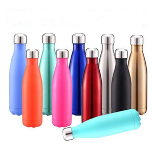 Cola Shaped Water Bottle Vacuum Insulated Travel Water Bottle Stainless Steel Coke Shape Outdoor Water Bottles 500ml WQ170