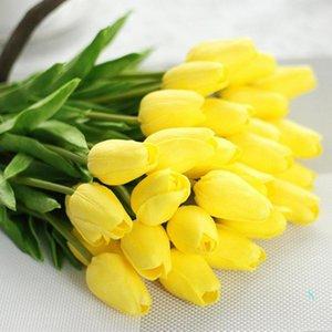 Tulip Artificial Flower Wedding Decorative Flowers Silk Artificial Bouquet Real Touch Flowers Home Decorative Flowers & Wreaths