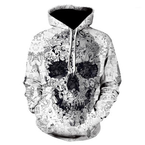 Jacket men's and women's hip hop classic Hoodie loose casual human skeleton special Pullover fashion 3D printing top sportswear1