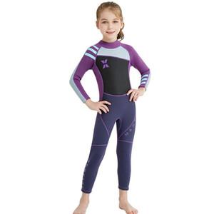Usine directe de haute qualité 2020 Nouveaux méduses en néoprène enfants Wetsuit maillot de bain filles à manches longues surfing maillot de bain filles wetsuit