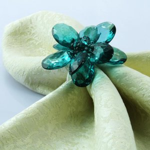 free shipping flower napkin ring flower napkin holder for wedding many colors 12 pcs