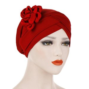 2020 new hot-selling flower chemo cap, multicolor milk silk comfortable night cap, easy pullover cap for better sleep