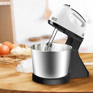 Elektrikli Gıda Mikser Masa Standı Kek 7 Hızlı Hamur Mikser El Yumurta Çırpıcı Çırpma Blender Pişirme Kırbaçlama Krem Stand Kek Hamur Y1119