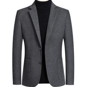 2020 New Brand Men Wool Blends Suit Jacket Fashion Solid Color Men Slim Fit Blazer Party Wedding Tuxedo Blazers terno masculino