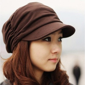 Foreign trade new style Korean casual fashion hat men and women pleated caps wholesale B194