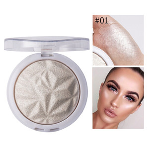 6 Colors Highlighter Powder Brighten Face Foundation Palette flower Pearl light Shiny Earth Metallic Highlighting Contour
