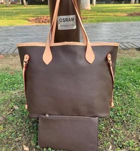 أسعار الجملة بيع عالية الجودة أزياء المرأة حقائب جلدية مع محفظة السيدات اليد مع الحقيبة حقائب الكتف التسوق 2 قطعة مجموعة
