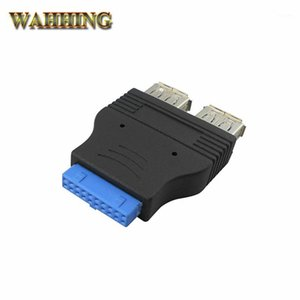 20 Pin to Dual USB 3.0 USB3.0 Female Cable Adapter Conenector Computer Mainboard 19Pin to USB Adapter Converter HY2181