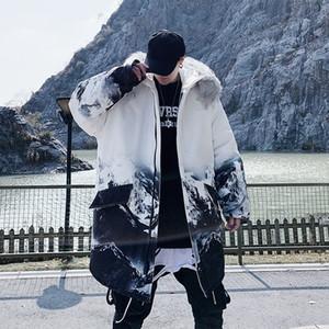 Privathinker 2020 Winter Нового ветровки Повседневного Негабаритный Теплые пальто Людей хип-хоп с капюшоном Одежда Мужской сгущает Zipper Камуфляж Parka