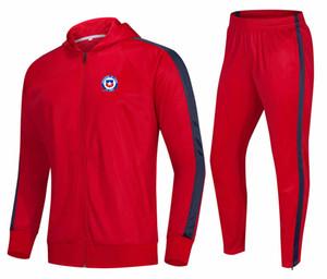 20 21 Chile Kids Soccer Tracksuit Men Training Uniforms Men's Thai Quality Club Set With Logo Adult sportswear