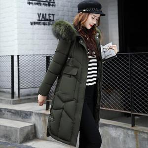 Fashion long down jacket 2020 new warm winter duck down Jacket women coat hooded fur collar winter jacket female outwear